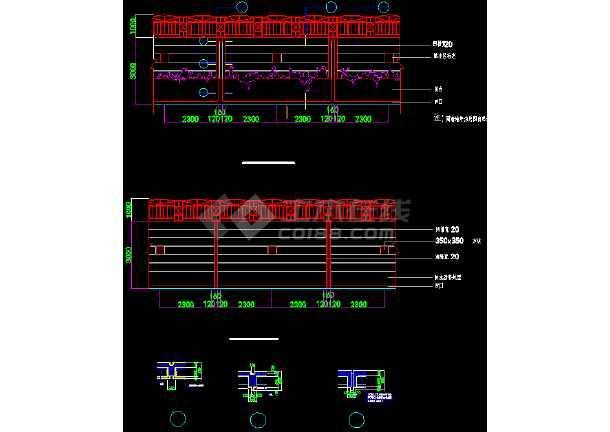 某围墙栏杆详细设计CAD图块大集全-图3