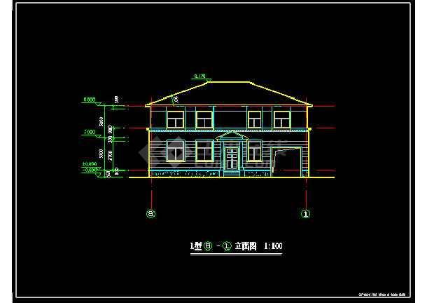 创业农庄l型别墅cad建筑设计图