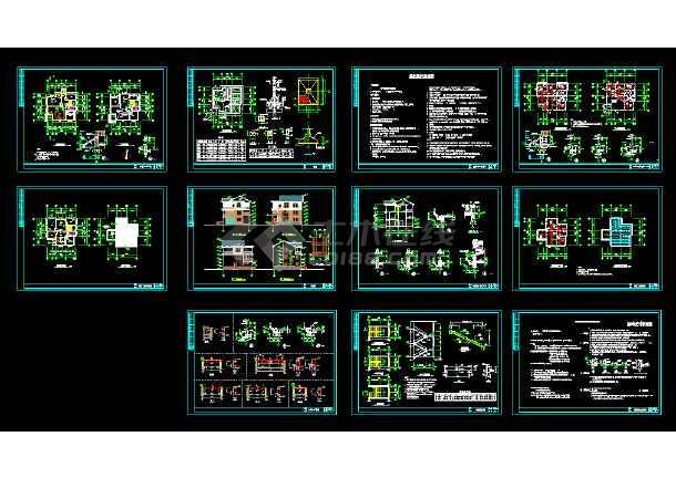 某新型农村住宅见建筑CAD设计施工图纸上图纸护坡图片