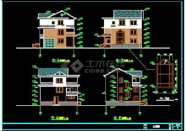 某新型软件零件见建筑CAD分类施工图纸住宅设计管理图纸农村图片