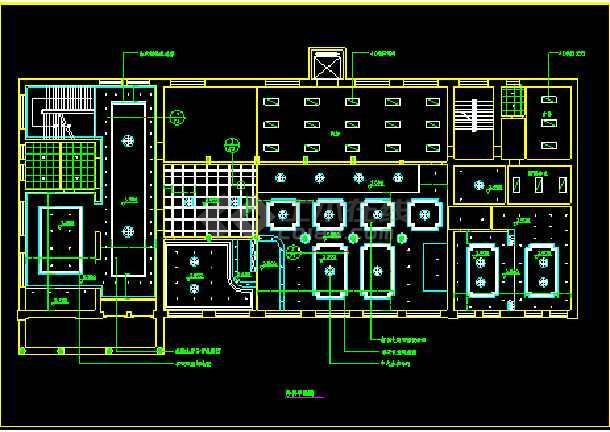 中餐厅平面布置图施工设计CAD方案