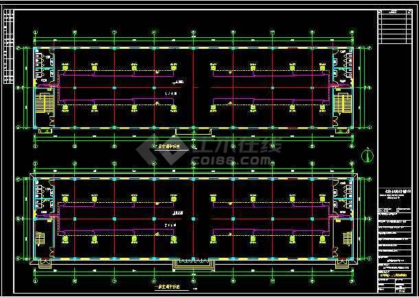 某厂房全套MDV设计cad施工平面设计图-图1