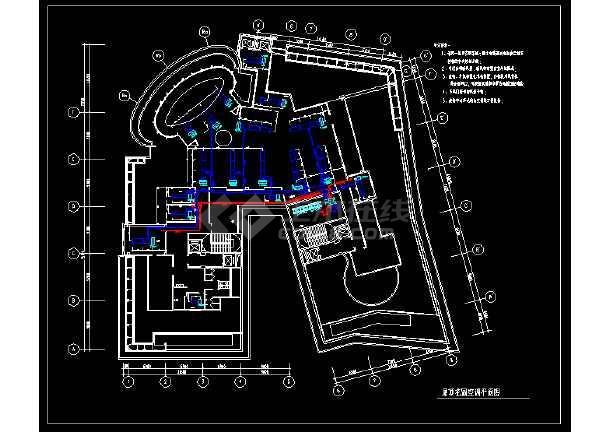 高层建筑屋顶花园空调设计cad平面施工图-图1
