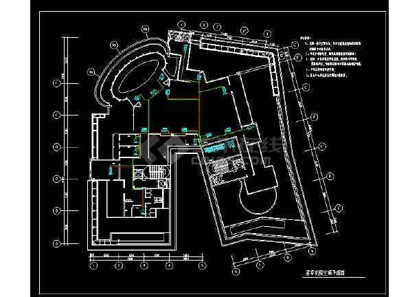 高层建筑屋顶花园空调设计cad平面施工图-图2