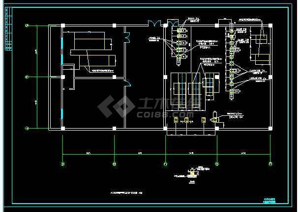 某综合大楼建筑冷、热水机房竣工cad施工图-图1