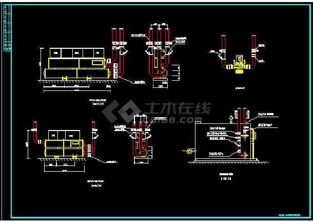 某综合大楼建筑冷、热水机房竣工cad施工图-图3