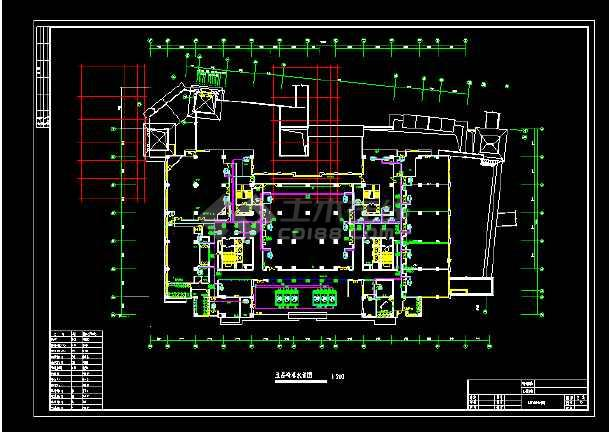 酒店全套中央空调cad设计施工图纸-图1