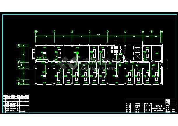 某办公楼中央空调全套cad平面施工图-图1
