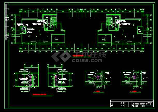 高层住宅楼中央空调cad设计图纸-图1