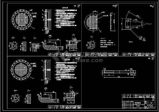 某经典换热器总安装示意cad施工图-图1
