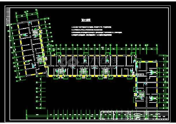 某建筑采暖管线cad平面设计施工图-图3