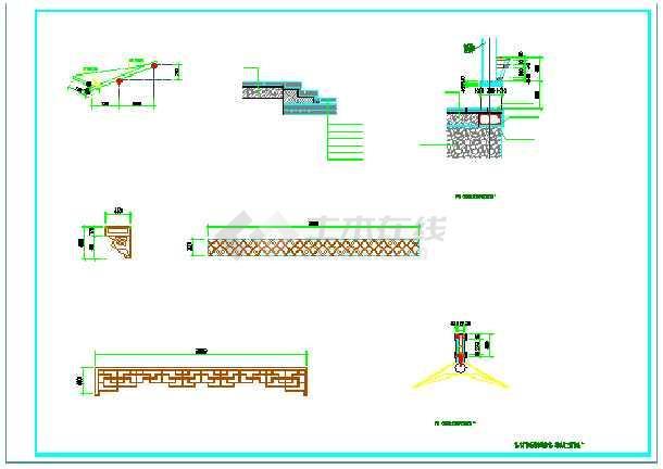 一个廊桥加一个廊架的景观设计图纸-图2
