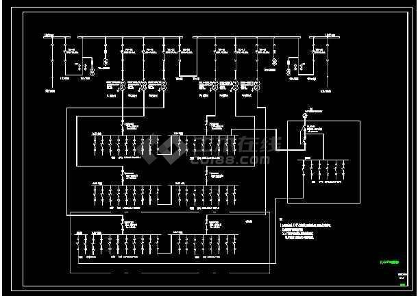 某商场10kv变电所设计cad原理接线图