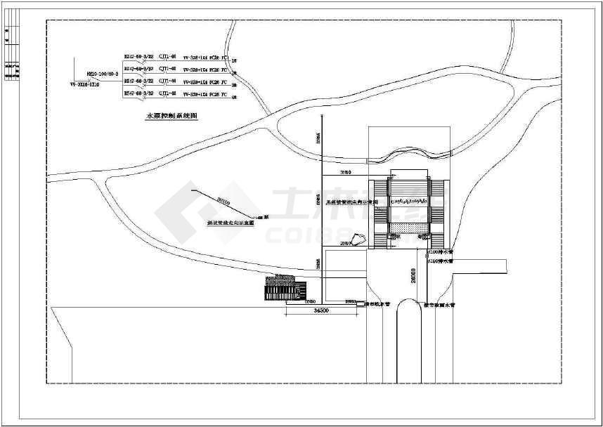 某地比较受欢迎的的公园入口施工图纸-图1