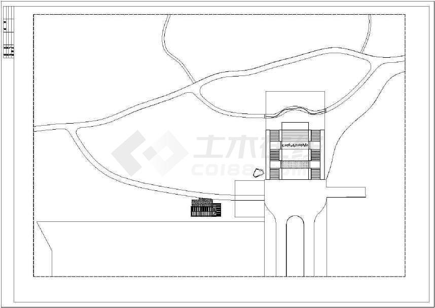 某地比较受欢迎的的公园入口施工图纸-图2