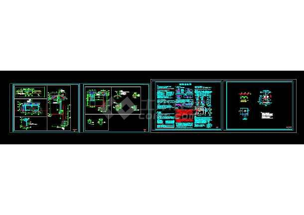 某公交站台设计CAD图纸-图2