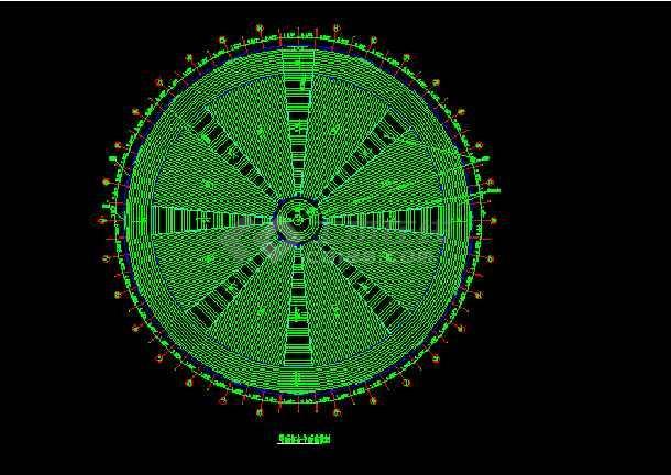 某网架檩条平面布置设计CAD图纸-图2