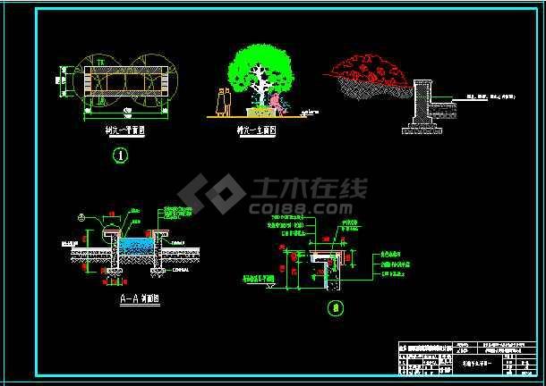 大酒店绿化施工图、铺装节点详图、种植设计平面图-图2