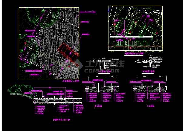 植草砖停车场详图(包括明沟和暗沟做法详图)-图1