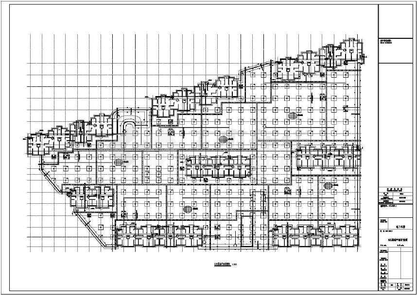 某地住宅小区地下车库基础结构图纸