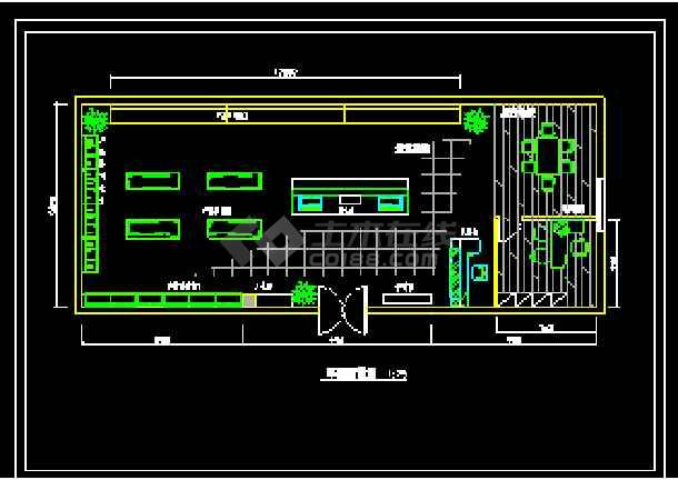 某市电器商店装修CAD施工设计图纸-图1