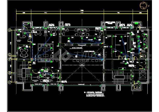 北京绿城诚园休闲会所cad平面设计图-图2