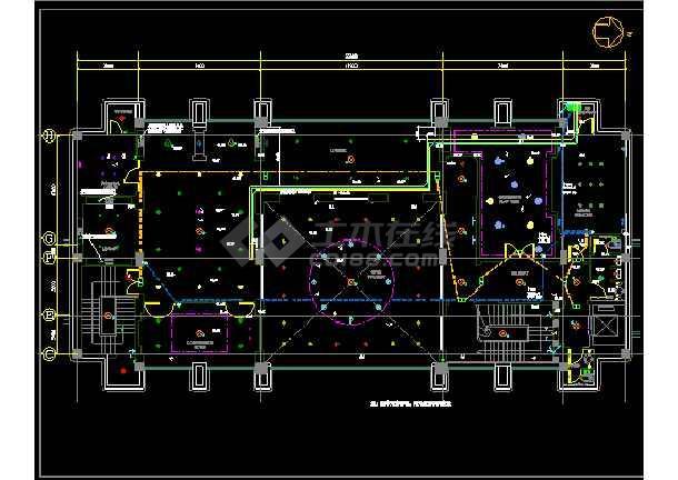 北京绿城诚园休闲会所cad平面设计图-图3