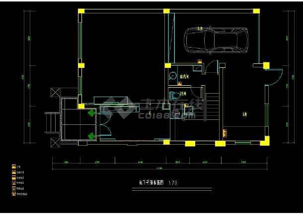 某地经典排屋别墅室内装修设计cad方案图-图1