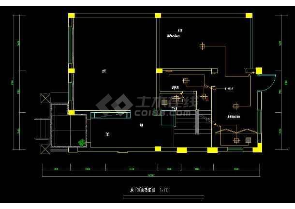 某地经典排屋别墅室内装修设计cad方案图-图2