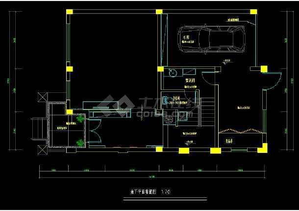 某地经典排屋别墅室内装修设计cad方案图-图3