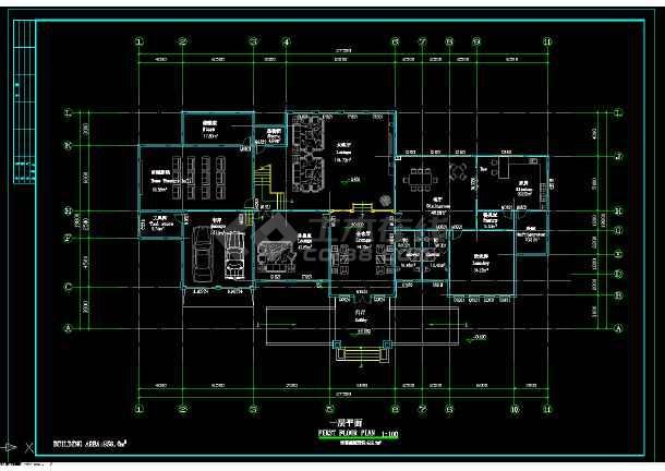 某地区某2层独立别墅设计cad建施图附效果图-图1