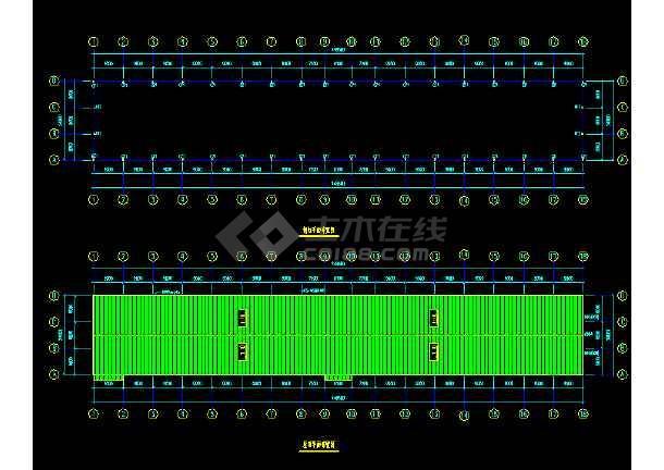中国石化工程建设公司工程CAD平面布置图-图2
