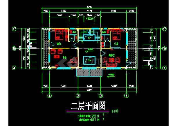 南方某高级别墅设计CAD建筑方案施工图纸-图3