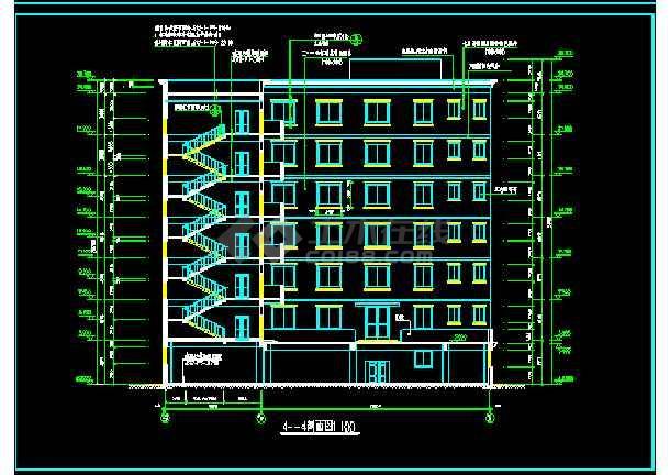 宾馆全套CAD平立剖面设计施工图-图1
