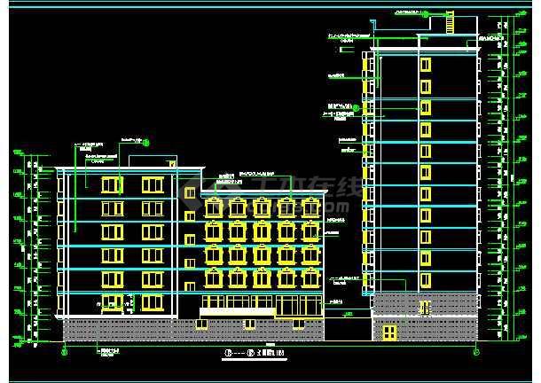 宾馆全套CAD平立剖面设计施工图-图2