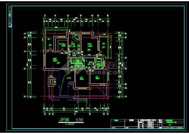 某地区某别墅区设计cad建施图带效果图-图2