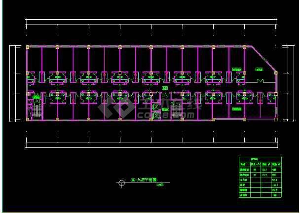 阿里郎宾馆方案CAD平面设计图纸-图1