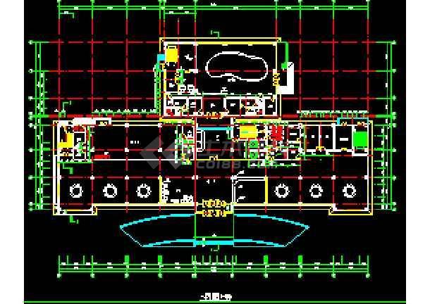 宾馆设计方案CAD平立剖面施工图-图1