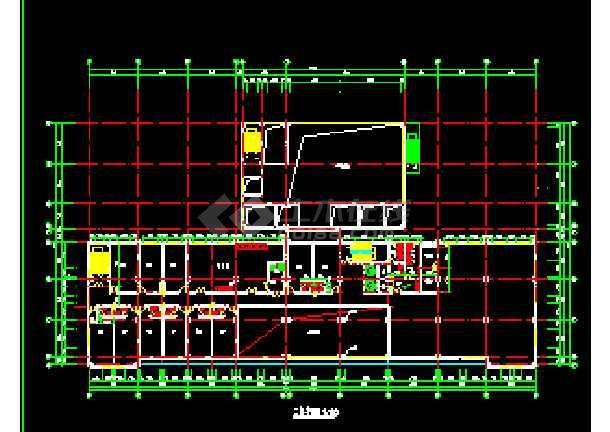宾馆设计方案CAD平立剖面施工图-图2