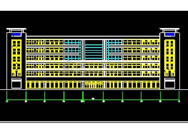 宾馆设计方案CAD平立剖面施工图-图3