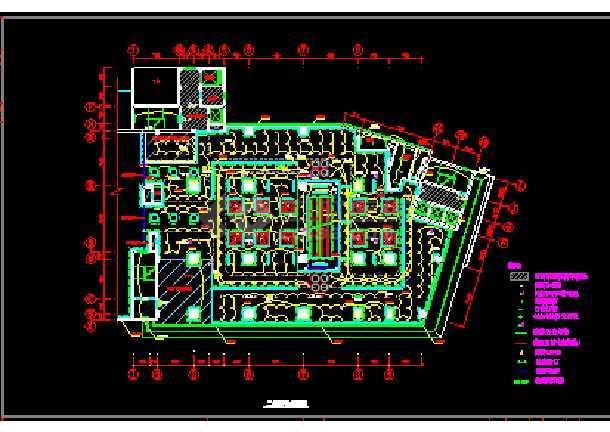 某灯光的布局商场cad设计施工图上海松江室内设计培训图片