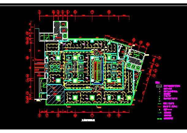 某商场的灯光布局cad设计施工图-图3