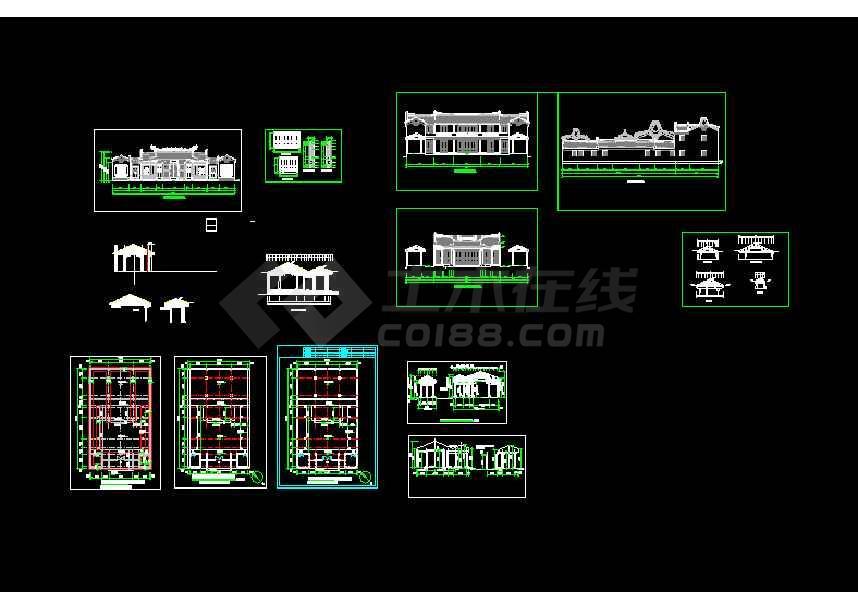 某地小型方案建筑设计小区图纸cad楼吗做祠堂图纸城市图片