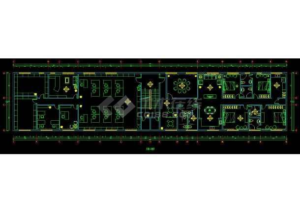 某办公楼室内装修设计cad施工方案图-图2