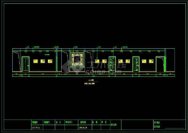 某办公楼室内装修设计cad施工方案图-图3