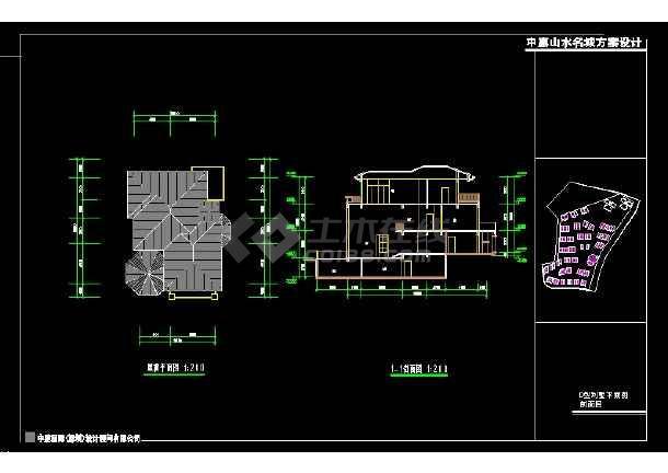 深圳市某风格别墅设计cad建施图带效果图-图2