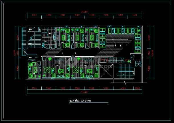 某歌舞厅KTV包房室内装修设计cad施工图-图2