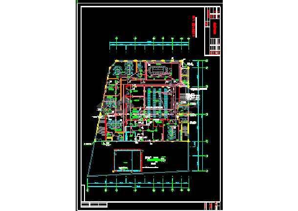 某办公大楼室内装饰强电cad设计图纸-图2