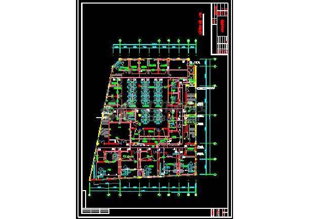 某办公大楼室内装饰强电cad设计图纸-图3