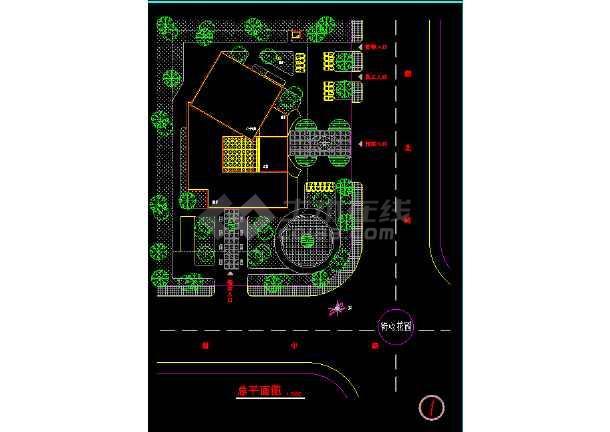 宾馆方案施工CAD平立剖面设计图-图1